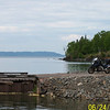 Dean Swanson of Lakeville, Minn., took this photo of his bike on the nothern shore of Lake Superior (Silver Islet in Canada).