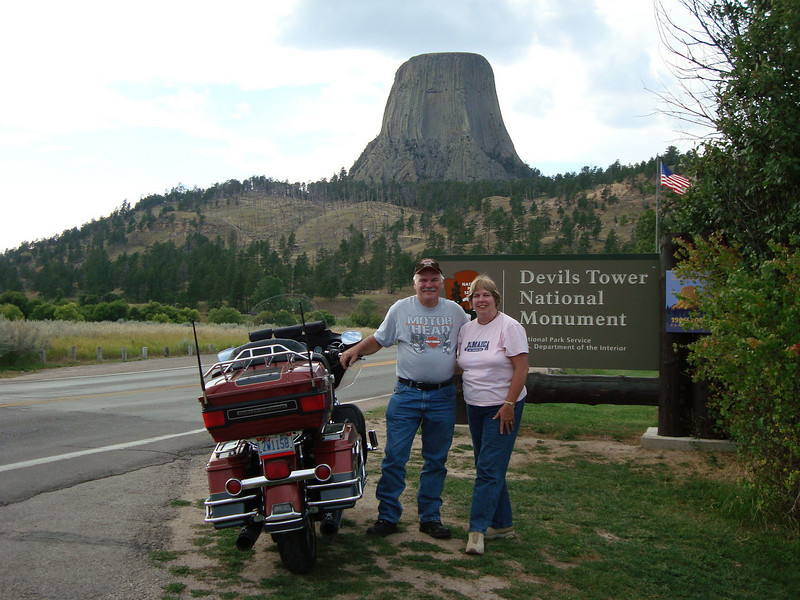 """""""Picture from a great two-week bike trip with my wife, Susan, from Harrisburg, N.C. to Kansas, Colorado, Wyoming, South Dakota and back."""" - Clarence Wensel Jr. of Harrisburg, North Carolina."""