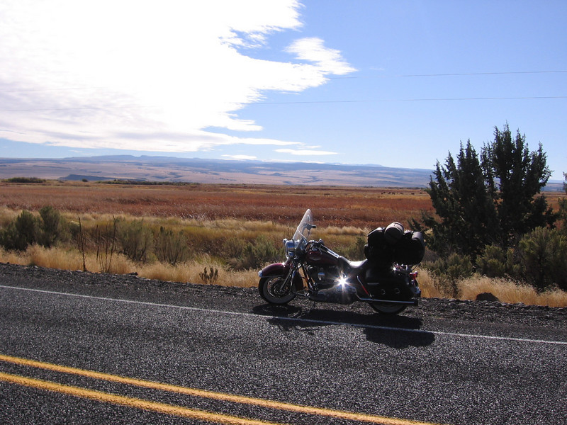 """""""Here is a picture I took during my Oregon trip in October. The location is Highway 205 in eastern Oregon north of Frenchglen. The area is called Malheur National Wildlife Refuge."""" - Chris Miller of Central Point, Ore."""