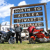 This picis froma father/son ride from Kansas City, Mo., to Fairbanks, Alaska. The photo was taken at Kitwanga, British Columbia. From left: Ralph Mayer and his son, Mike. - Ralph Mayer of Kansas City, Mo.