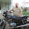Keith May and his 1978 Yamaha XS500.