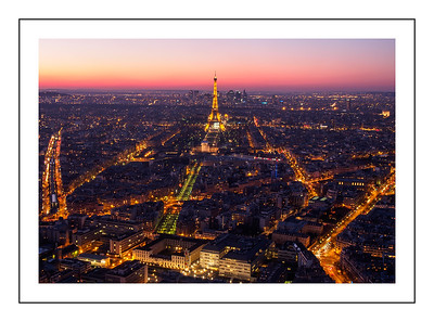 Parisien blue hour
