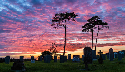 Sunset at the old militry graveyard