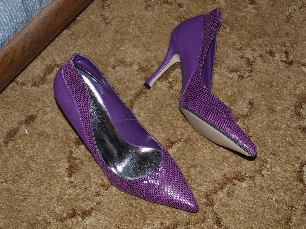 Purple High Heels on the Floor!!!