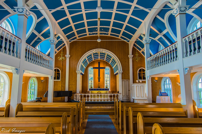 The Blue Church of Iceland