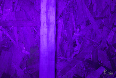 What was apparent to the eye was not visible to the camera.  The black light aspect showed portions of this texture to be bright blue to the eye.