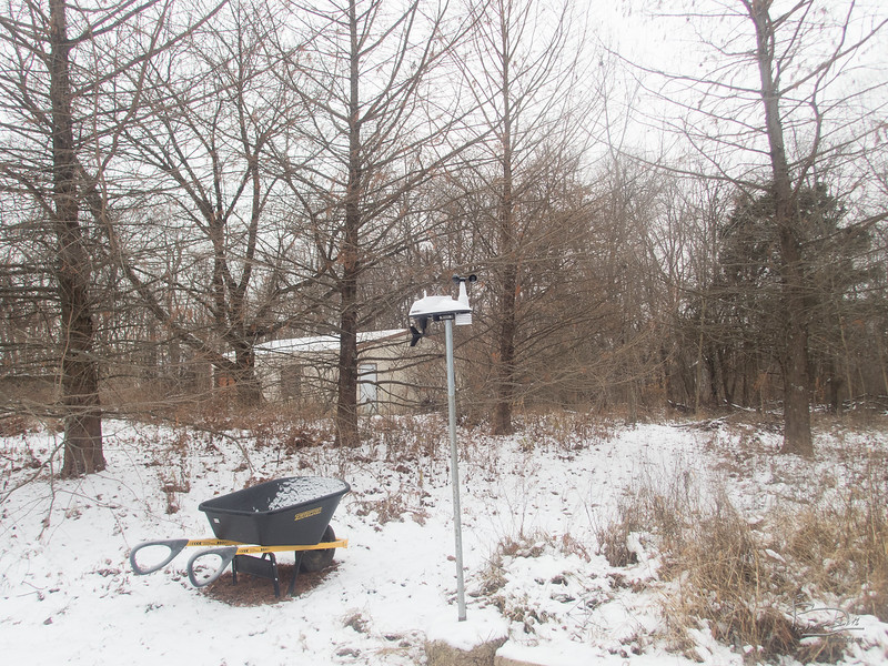 The weather station was set up on Christmas day, but didn't get hooked up properly for a few days.