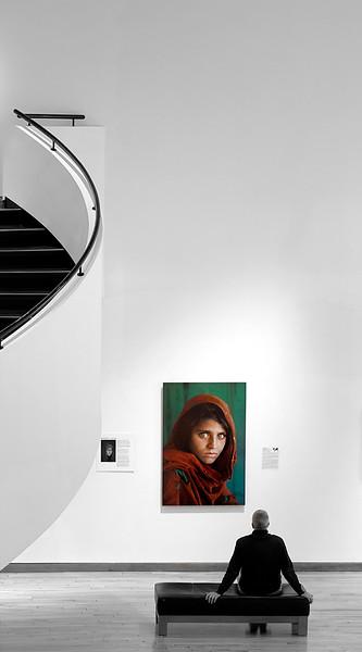Admiring Afghan Girl