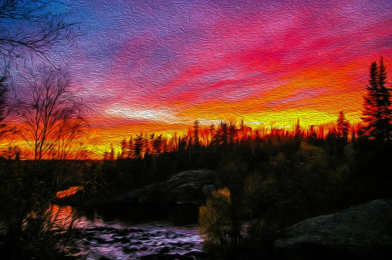 Sky on Fire - Tulabi Falls, MB