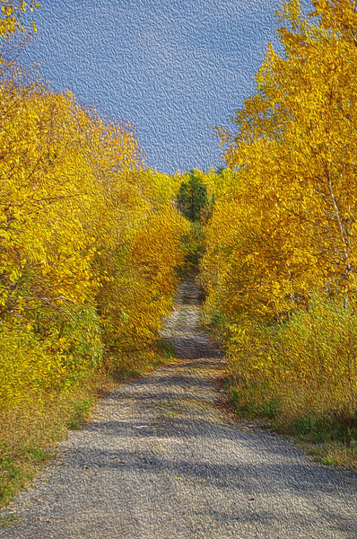 Country Lane painting