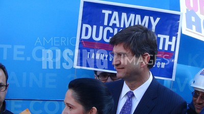 Brad Schneider At DNC's Forward Together Bus Tour In Chicago, IL