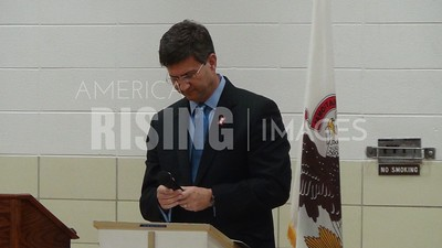 Brad Schneider At Gary Graff Center, Black Chamber Of Commerce Of Lake County, Most Blessed Trinity Catholic Church, HACES, NAACP, Latino Coalition Lake County Candidate Forum In Waukegan, IL