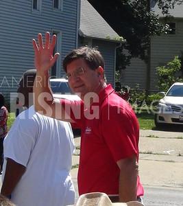 Brad Schneider At Waukegan Fiesta Patrias Parade In Waukegan, IL