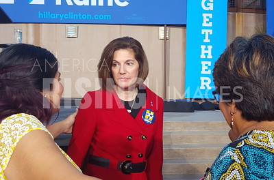 Catherine Cortez Masto At Hillary Clinton Organizing Event With Elizabeth Warren At Springs Preserves In Las Vegas, NV