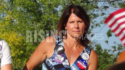 Cheri Bustos At 'Salute to Labor' Picnic With Hillary Clinton, Tammy Duckworth, And Dick Durbin In Hampton, IL