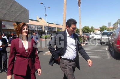Ruben Kihuen At Meeting With Latino Business Owners With Catherine Cortez Masto In Las Vegas, NV