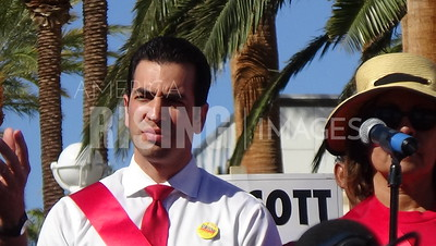 Ruben Kihuen At Trump Protest With Culinary Union 226 At Trump International Hotel In Las Vegas, NV