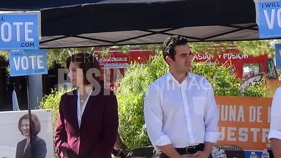 Ruben Kihuen At 'Get Out The Vote' Event With Catherine Cortez Masto, Joaquin Castro, And Julian Castro At UNLV In Las Vegas, NV