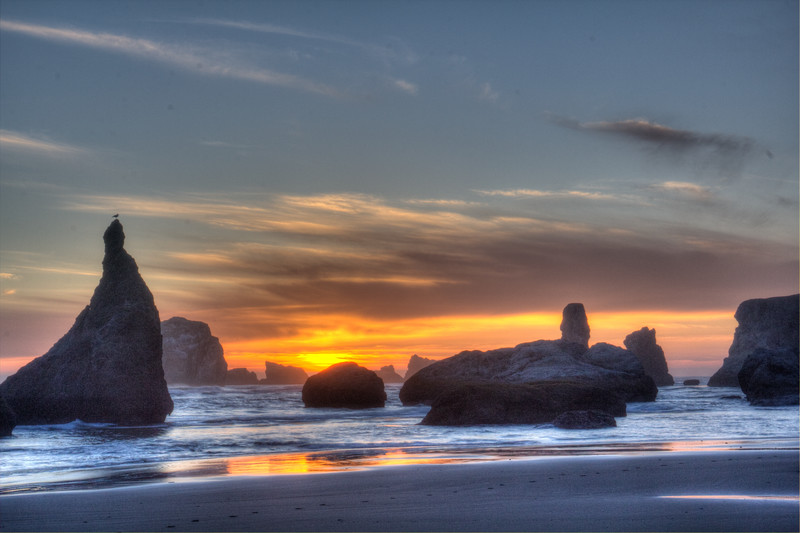 Monte Jensen,   Bandon, Oregon Sunset