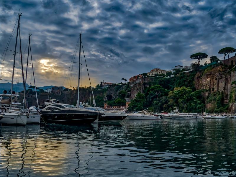 Jan Wells,   Sunset on the Amalfi Coast