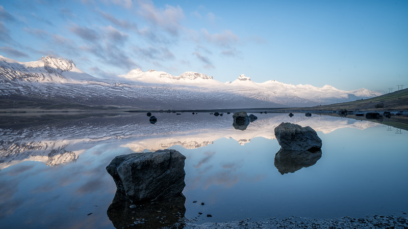Elaine Belvin,   Berufjordur Reflection