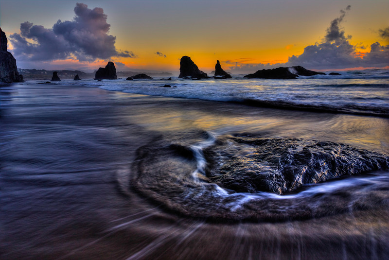 Monte Jensen,   Sunset Bandon Beach