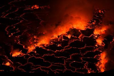 Volcanic lake eruption
