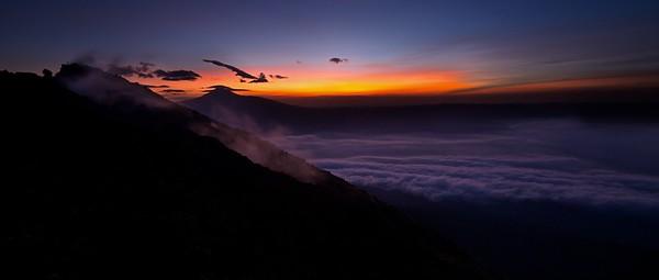 Sunrise over Karisimbi volcano