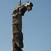 43 Wolf totem pole, Kitwanga BC