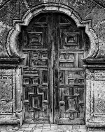 Church Door<br /> by Dale Lindenberg<br /> B & W<br /> Score 12