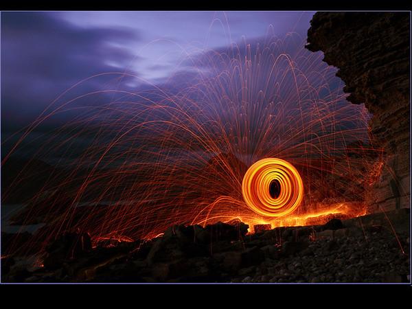 Darren  - Beach fireworks