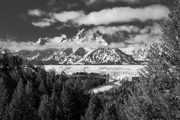 Grand Teton in Clouds