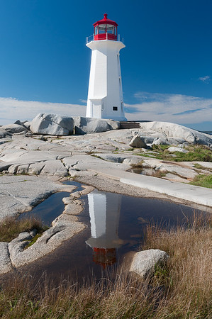 Peggy's Cove Light Reflected