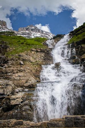 Title: Logan Creek Falls GNP, Maker: Jim Lawrence, Category: Landscape, Score: 13