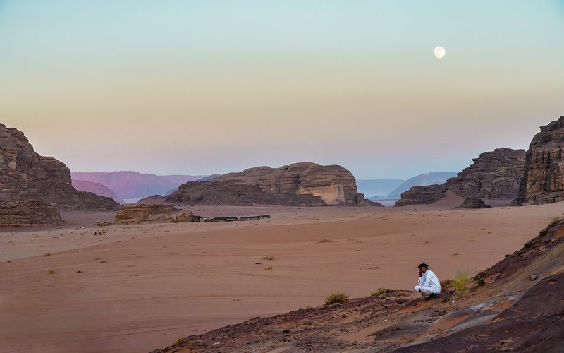 Evening in the Wadi Rum - Kath
