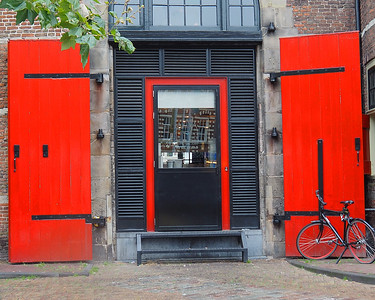 Red Doors Refelction - Amsterdam