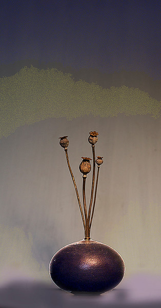 Vase With Poppy Seed Heads