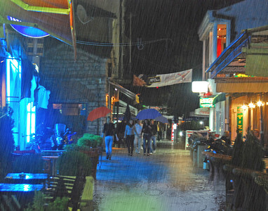 Downpour In Ohrid, Macedonia