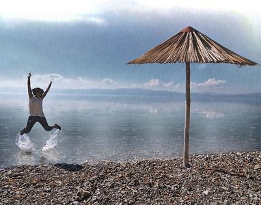 Jumping In The Rain (Lake Ohrid, Macedonia)