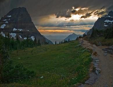 Sunset At Logan Pass