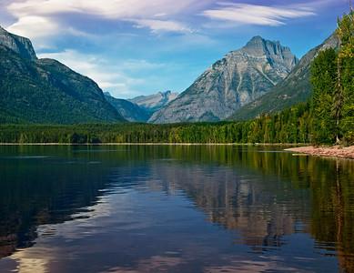 Reflecting Mountains At Lake McDonald