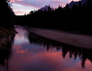 Picturesque Sunrise At Glacier National Park