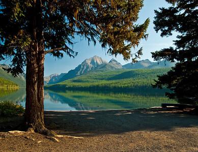 Bowman Lake (through the trees)
