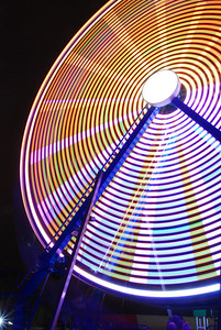 Ferris Wheel - Carnival; time exposure 2