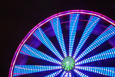 Ferris Wheel - Carnival; time exposure 3
