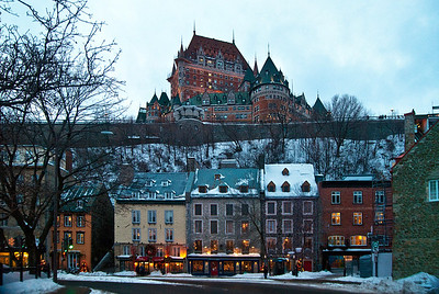Lower Town Quebec & Chateau Frontenac
