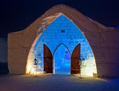 Ice Hotel - Chapel Entrance