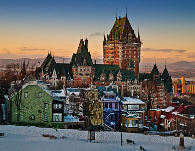 Quebec City - Chateau Frontenac - St Lawrence Seaway