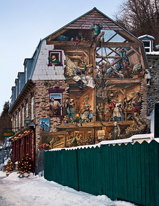 Quebec City - Lower Town; See Thru House