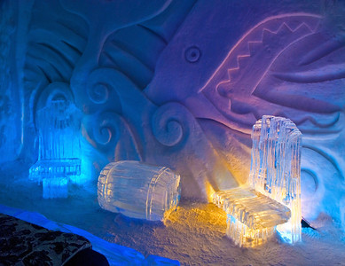 Ice Hotel - Typical Room For Rent